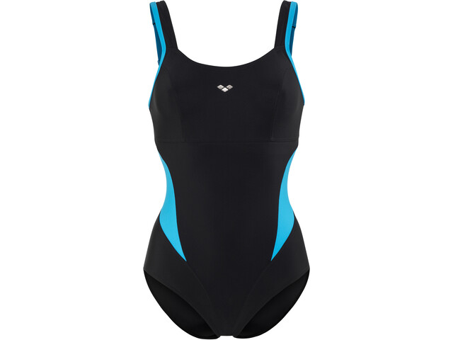 arena Makimurax One Piece Swimsuit Dames, black-turquoise
